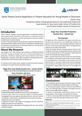 Research Poster: Game Theatre