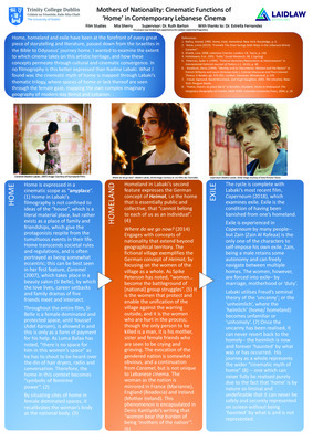 Research Poster: 'Mothers of Nationality: Cinematic Functions of 'Home' in Contemporary Lebanese Cinema'