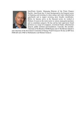 Panelist: Jean-Pierre Sweerts