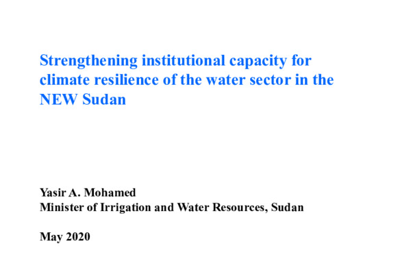 Symposium 2020 20-05 Yasir Resilience to CC for water sector in Sudan