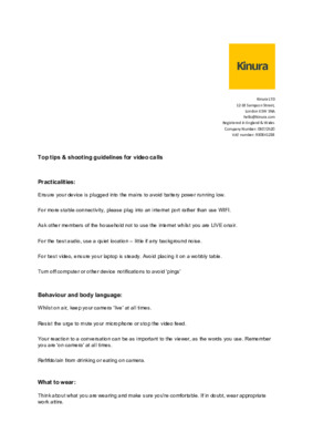 KINURA Top tips & shooting guidelines for video calls (1)