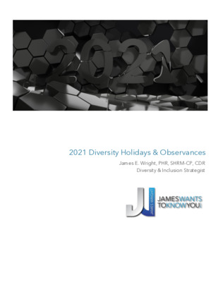 2021 Diversity Holidays & Observances