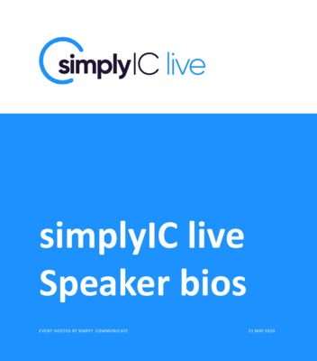SimplyIC live speaker biographies