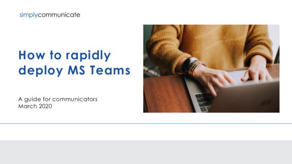 How to rapidly deploy Microsoft Teams