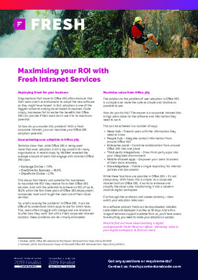 Maximising your ROI with Fresh Intranet Services