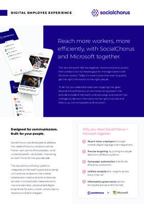 Microsoft & SocialChorus