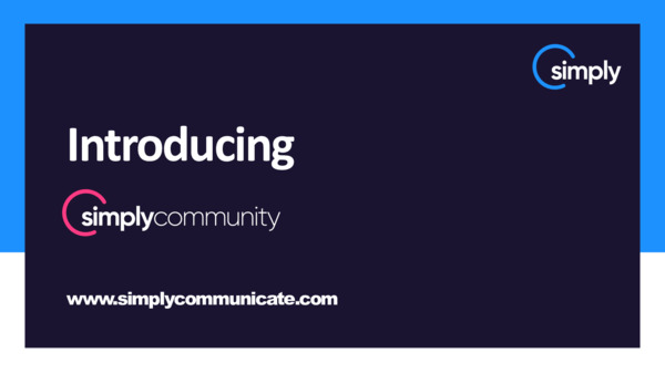 Introducing the new simplycommunity