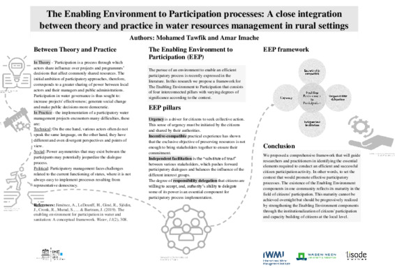 The Enabling Environment to Participation