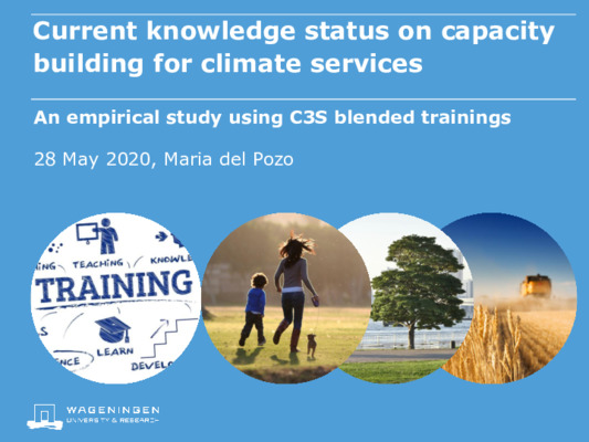 Current knowledge status on capacity building for climate services