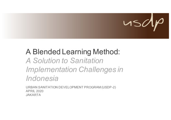 (Presentation) Blended Learning as a Solution to Institutional & Financial Challenges in Indonesia