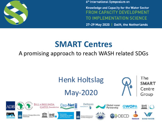 SMART Centres. A promising approach to reach SDG6 and water related SDGs in rural areas