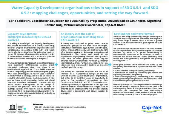 IHE Symposium Poster Capacity Development Sabbatini & Indij