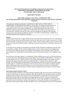 SDGs & miniSASS Taylor et al 1 May 2020_DC_SW