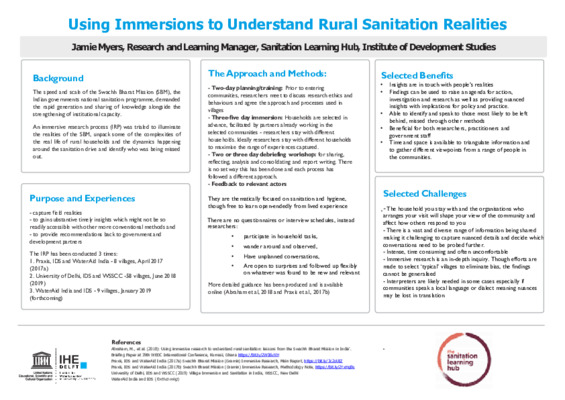 Immersions poster