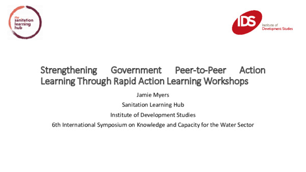 Strengthening Government Peer-to-Peer Action Learning Through Rapid Action