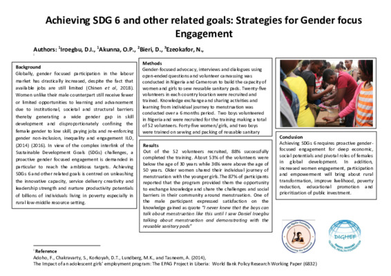 Achieving SDG 6 and other related goals POSTER (1)