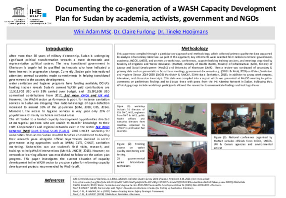 Documenting the co-generation of a WASH Capacity Development Plan for Sudan by academia, activists, government and NGOs