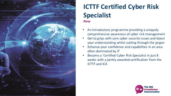 ICTTF Certified Cyber Risk Specialist
