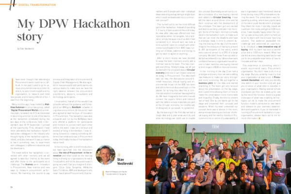 My DPW Hackathon 2019 Journey
