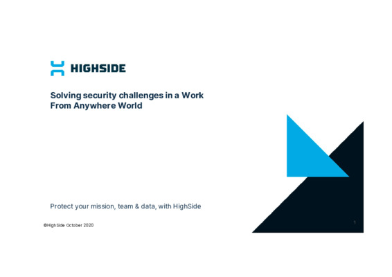 Solving security challenges in a Work From Anywhere World