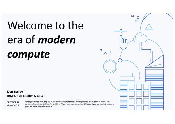 Welcome to the era of modern compute