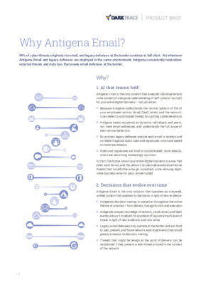 Why Antigena Email?