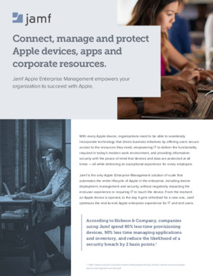 Jamf Enterprise Brochure: Connect, Manage & Protect