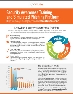KnowBe4 Security Awareness Training and Simulated Phishing Platform Overview