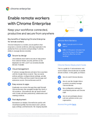 Enable  Remote Workers with Chrome Enterprise