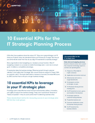 10 Essential KPIs for the IT Strategic Planning Process