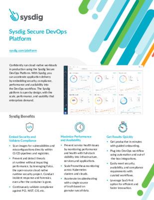Sysdig Secure DevOps Platform