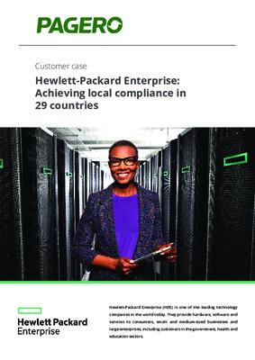 Hewlett-Packard Enterprise: Achieving local compliance in 29 countries