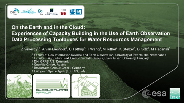 On the Earth and in the Cloud_GWA Toolbox_Vekerdy et al