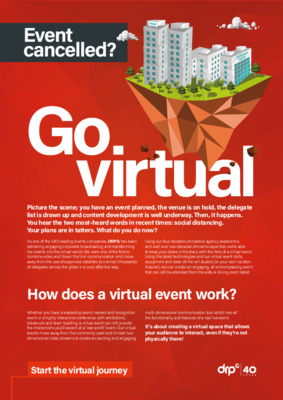 Go Virtual - how to turn your live event into a virtual event