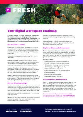 Your digital workspace roadmap