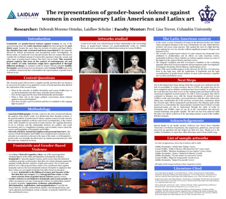 Research Poster + Video: The representation of gender-based violence against women in contemporary Latin American and Latinx art