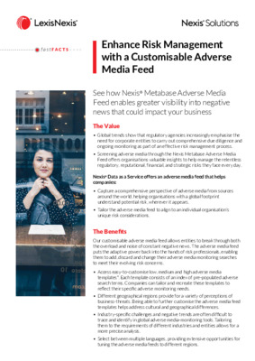 Enhance Risk Management with a Customisable Adverse Media Feed