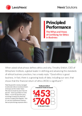 The Whys and Hows of Certifying for Ethics in Business