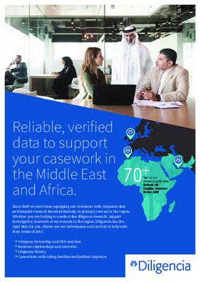 Reliable, verified data to support your casework in the Middle East and Africa