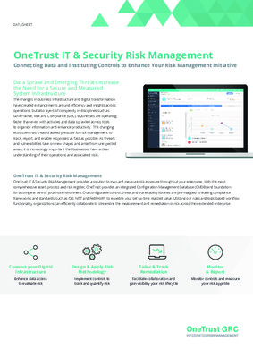 OneTrust IT and security risk management