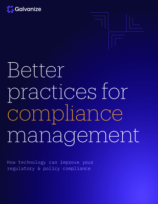 Better practices for compliance management