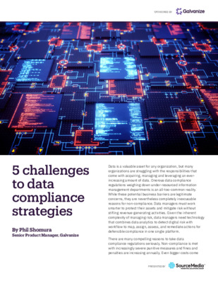 5 challenges to data compliance strategies