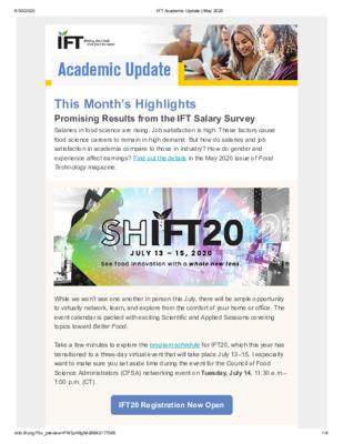 Academic Update Newsletter