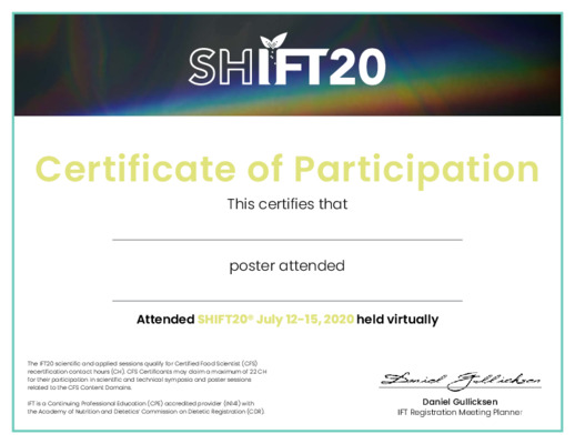 SHIFT20 Poster Certificate
