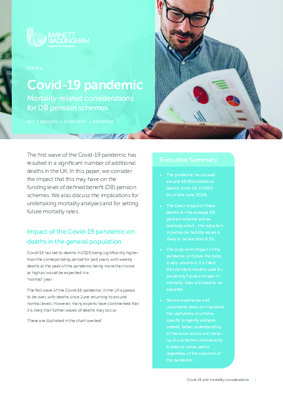 Covid-19 pandemic: Mortality-related considerations for DB pension schemes