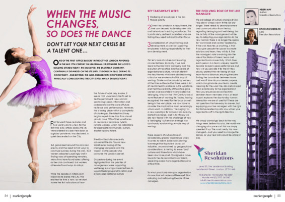 When the music changes, so does the dance