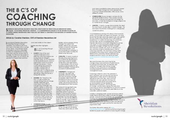 The 8 C's of Coaching through Change