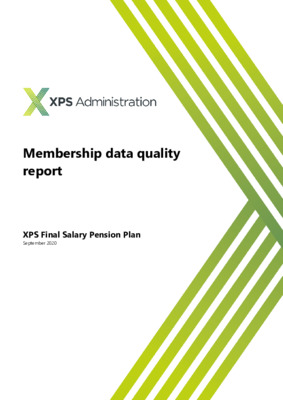 XPS Administration - Membership data quality report
