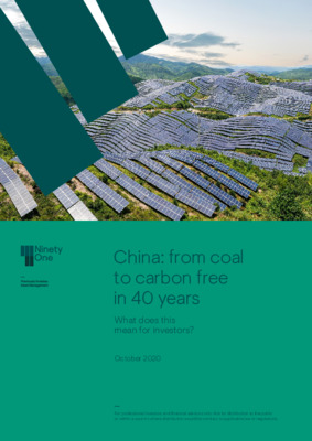 China: from coal to carbon free in 40 years