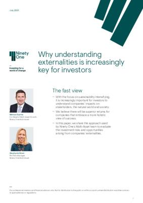 Why understanding externalities is increasingly key for investors